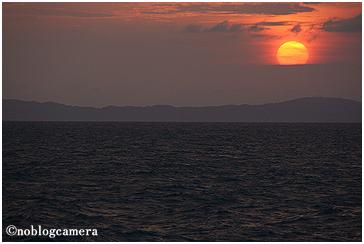 玄界灘の夕日